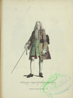 fashion-00996 - 238-Habit of and English gentleman about 1700, Gentil-homme Anglois de l'annee 1700