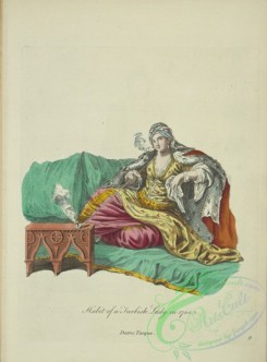fashion-01016 - 264-Habit of a Turkish lady in 1700, Dame Turque