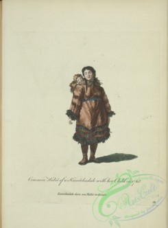 fashion-01056 - 304-Common habit of a Kamtchadale with here child in 1768, Kamtchadale dans son habit ordinaire