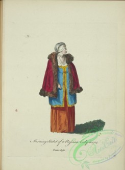 fashion-01073 - 321-Morning habit of a Russian lady in 1764, Femme Russe