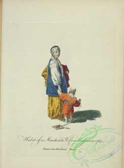 fashion-01077 - 325-Habit of a merchant's wife in Russia in 1765, Femme d'un marchand Russe