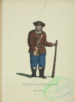 fashion-01097 - 345-Habit of a country man of Livona in 1700, Paysan de l'Ivonie