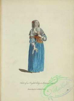 fashion-01195 - 446-Habit of an English lady in summer, 1641, Dame Angloise en habit d'ete