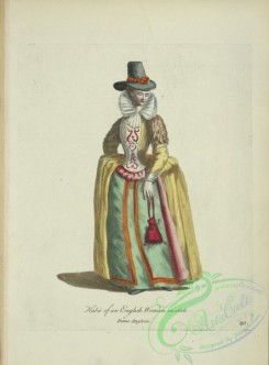 fashion-01198 - 449-Habit of and English woman in 1626, Dame Angloise