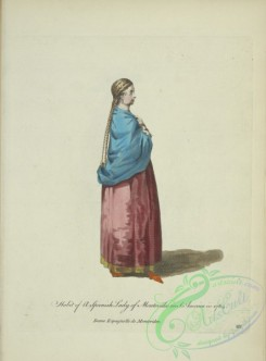 fashion-01215 - 469-Habit of a Spanish lady of Montevideo in South America in 1764, Dame Espagnolle de Montevideo