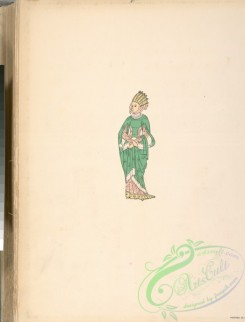 fashion-01397 - 162-Woman in green gown with headdress