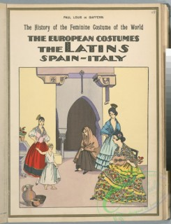 fashion-01422 - 187-The European costumes-The Latins, Spain-Italy
