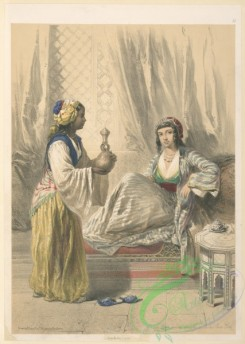 fashion-01583 - 012-Cairine lady waited upon by a Galla slave girl