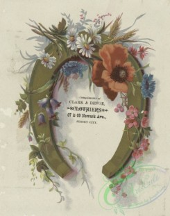 goodluck-00009 - 1523-A trade card depicting flowers and a horseshoezzz102210 [1879x2386]