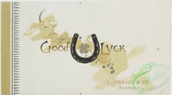 goodluck-00019 - 842-Ye booke of goode luck -  cards with text, depicting old shoes, horseshoes, four-leaved clovers, wishbones, rice and new moonszzz107966 [2009x1116]