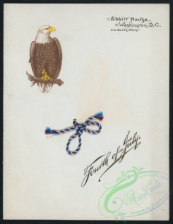 menu-00883 - 00803-Fourth of July, Eagle, Rope knot