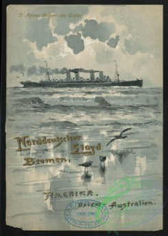 menu-01077 - 00996-Steamship, Sea, Gulls