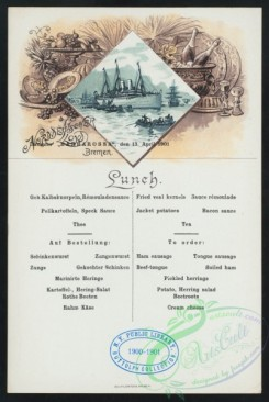 menu-01868 - 01816-Steamship, Food, Bottles, Fruits