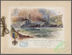 menu-03531 - 03444-Military cress medal, Battle ships, Navy forces, Capitol