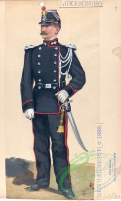 military_fashion-00141 - 103218-Luxembourg, 1891-1900-Luxembourg - Gendarmerie, 1899