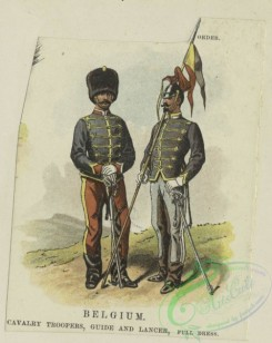 military_fashion-00845 - 105652-Belgium, 1890-1896-Belgium, cavalry troopers, guide and lancer, full dress