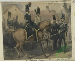 military_fashion-00982 - 106179-Belgium, 1832-1' Regiment Chasseur a Cheval Officer Trompette
