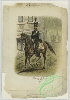 military_fashion-01147 - 106597-Belgium, 1790-1829-Chasseurs a cheval