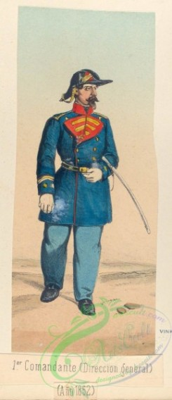 military_fashion-03873 - 104043-Spain, 1862-1-er Comandante (Direccion general). 1862