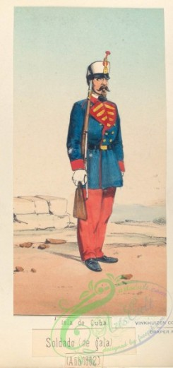 military_fashion-03875 - 104045-Spain, 1862-Isla de Cuba. Soldado (de gala). 1862