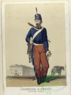 military_fashion-03912 - 104104-Spain, 1860-1861-Chasseur a cheval (grande tenue). 1860