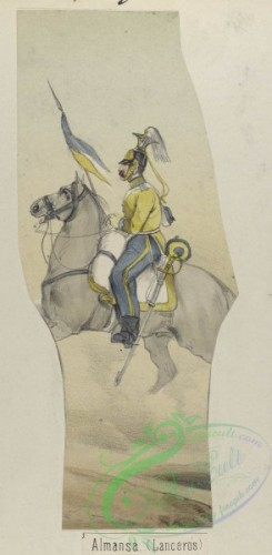 military_fashion-03956 - 104170-Spain, 1850-1859-Almansa. (Lanceros). 1850