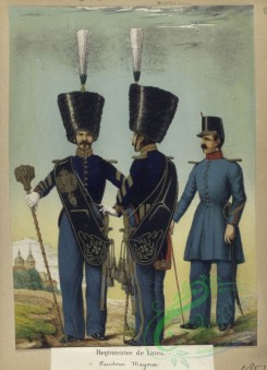 military_fashion-03961 - 104176-Spain, 1850-1859-Regimentos de Linea - Tambores Mayores (de Gala, de Diario). 1851