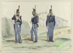 military_fashion-04020 - 104312-Spain, 1845-1849-1. Granader, 2. Fusilero, 3. Cazador. 1848