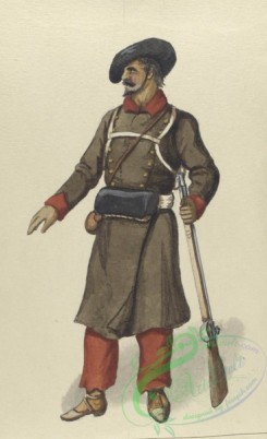 military_fashion-04052 - 104352-Spain, 1830-1835-Carlistische Infanterie. 1835
