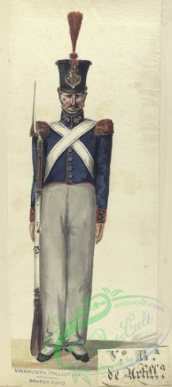 military_fashion-04079 - 104384-Spain, 1824-1829-V-o R-a (Voluntario Realista) de Artilleria. 1827
