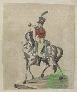 military_fashion-04155 - 104471-Spain, 1809-Spanje, trumpett jarge (ae) in parade