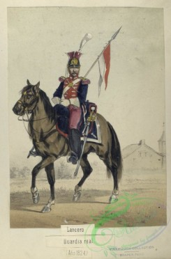 military_fashion-04158 - 104475-Spain, 1824-1829-Lancero. Guardia real. 1824