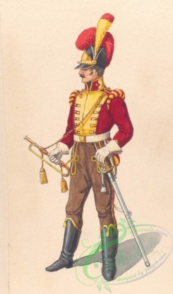 military_fashion-04214 - 104548-Spain, 1810-Trompeter Lancier et Mamncha