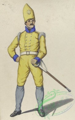 military_fashion-04251 - 104634-Spain, 1807-Caballeria de linea. Uniforme de campana. 1807