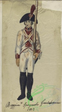 military_fashion-04259 - 104644-Spain, 1807-Reggim-to Spagnuolo Guadalaxara. 1807