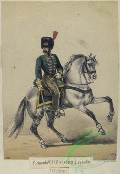 military_fashion-04310 - 105934-Spain, 1808-Fernando-VII (Granaderos a caballo) (Ano 1808)