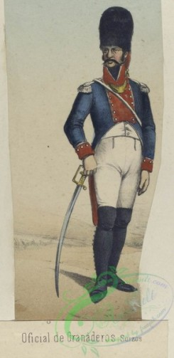 military_fashion-04381 - 106067-Spain, 1798-1802-Oficial de Granaderos Suizos. (Ano 1802)
