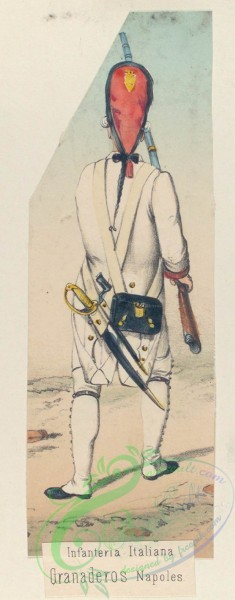 military_fashion-04445 - 106228-Spain, 1789-1793-Infanteria Italiana. Granaderos Napoles. (1789)