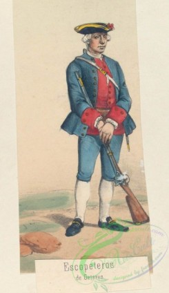 military_fashion-04526 - 106427-Spain, 1761-1769-Escopeteros de Getares. 1766