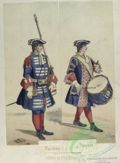 military_fashion-04612 - 106677-Spain, 1700-1744-Fusilero. Tambor. (Anos de 1700 a 1718)