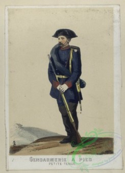military_fashion-04639 - 200155-Spain, 1860-1861-Gendarmerie a pied (petite tenue). 1860