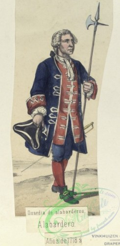 military_fashion-04703 - 200368-Spain, 1700-1744-Guardia de alabarderos. Alabardero. (Anos de 1718 a )