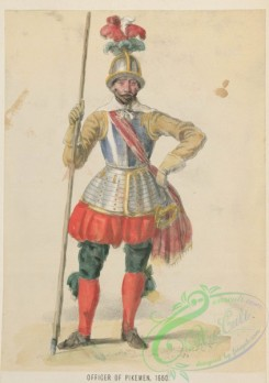 military_fashion-04705 - 112656-Great Britain. England, 1066-1741, officer of pikemen