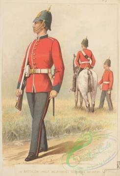 military_fashion-04914 - 116716-Great Britain, colonies-Batallion (West Melbourne) Victorian Infantry