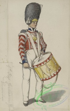 military_fashion-05302 - 200926-Great Britain, 1828, royal grenadier guards, drummer, musician soldier