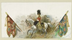 military_fashion-05329 - 200962-Great Britain, 1829-1845, horse rider, officer, flags, heraldry