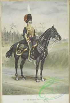 military_fashion-05403 - 201054-Great Britain, 1846-1853, black horse rider, officer, royal horse artillery,
