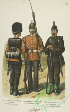 military_fashion-05555 - 201278-Great Britain, 1889-1896, private infantry soldier, fusiliers, infantry of the line, rifle corps