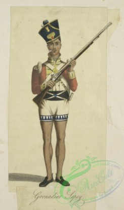 military_fashion-05749 - 201551-Great Britain, colonies, grenadier sepoy, private infantry soldier