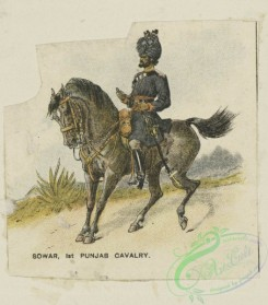 military_fashion-05890 - 208759-Great Britain, colonies, sowar, punjab cavalry, cavalry, horse rider, officer